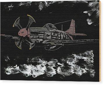 Tuskegee Night Flight Wood Print by Jim Ross