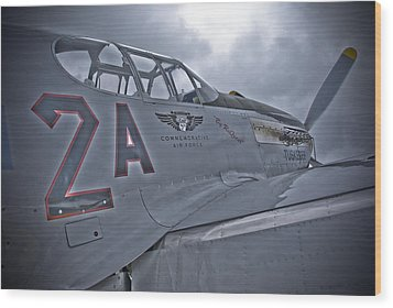 Tuskegee P-51 Wood Print by Eric Miller