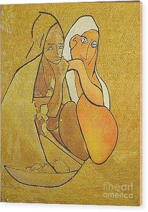 Tutu - Tu-two  Wood Print by Geoffrey Mann