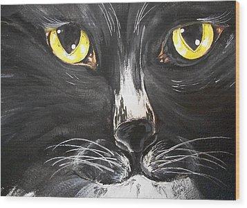 Tuxedo Meisty Wood Print