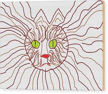 Tweeny Wood Print by Anita Dale Livaditis