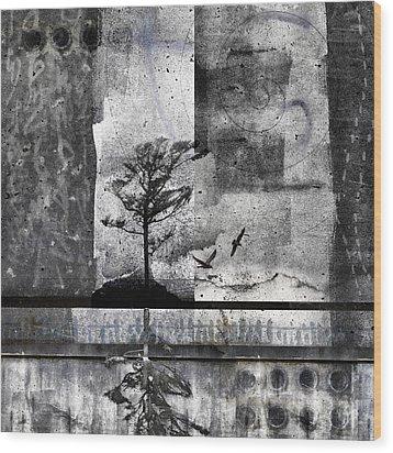 Twelve Moons Wood Print by Carol Leigh