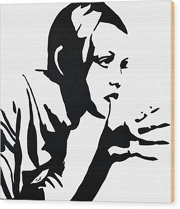 Twiggy Wood Print by Jett Vivere