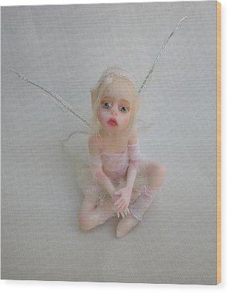 Twiggy Mae Fairy Wood Print by Deborah Gouldthorpe