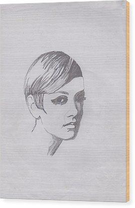 Twiggy Wood Print by Marie Hough