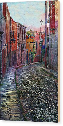 Twilight In San Miguel De Allende Wood Print by John  Kolenberg