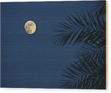 Twilight Moon Wood Print by Pandiyan V