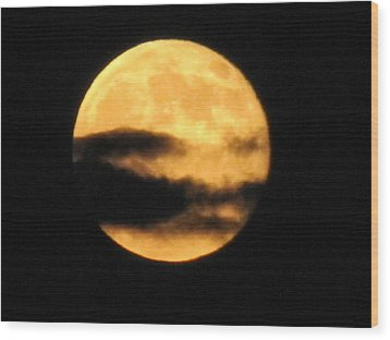 Wood Print featuring the photograph Twilight Moon by Shawn Hughes