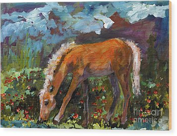 Twilight Pony In Protest Of H.r. 2112 Painting Wood Print by Ginette Callaway