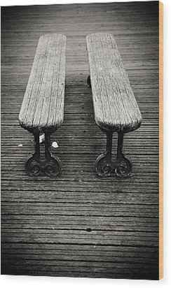 Twin Benches Wood Print by Edward Myers