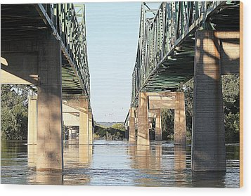 Wood Print featuring the photograph Twin Bridges by Elizabeth Winter