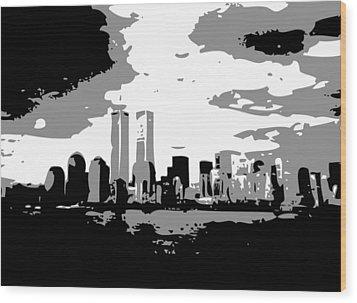 Twin Towers Bw3 Wood Print by Scott Kelley