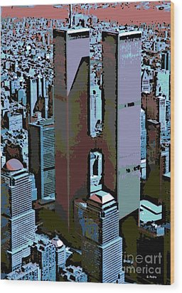 Twin Towers Wood Print by George Pedro