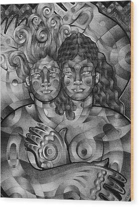 Twins Wood Print