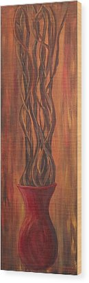 Twisted Wood Print by Christie Minalga