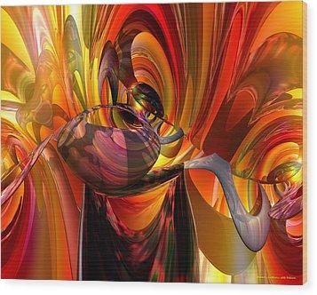 Twisted Jester Fx  Wood Print by G Adam Orosco