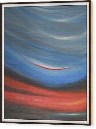 Twisting Sunset Wood Print by Joanna Georghadjis