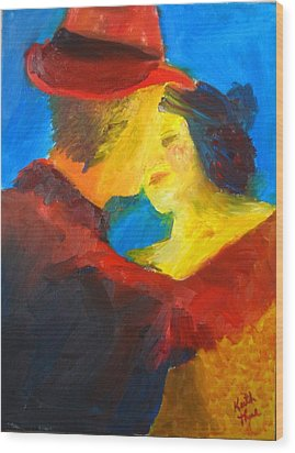 Wood Print featuring the painting Two Am Tango by Keith Thue