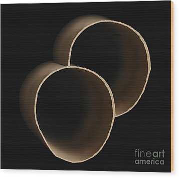 Two As A Minimum  Wood Print