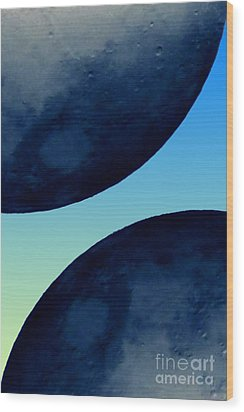 Two Blue Wood Print