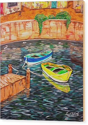 Two Boats Wood Print by Lee Halbrook