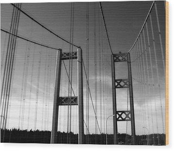 Two Bridges 2 Wood Print by Tanya  Searcy
