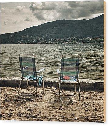 Two Chairs Wood Print by Joana Kruse