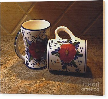 Two Cups Wood Print by Dale   Ford