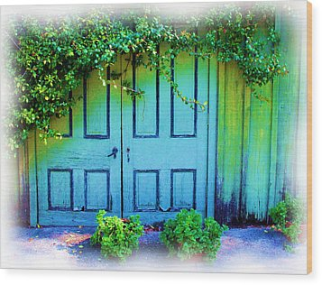 Two Doors Wood Print by Judi Bagwell