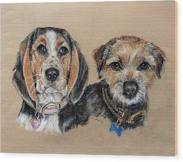 Two Friends Wood Print by Tanya Patey