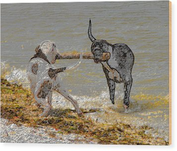 Two Good Friends Wood Print by David Lee Thompson