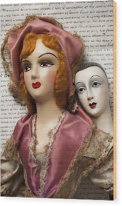 Two Old Dolls Wood Print by Garry Gay