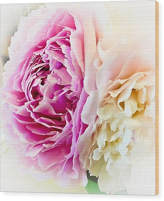 Wood Print featuring the photograph Two Peonies by Ronda Broatch
