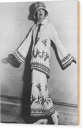Two-piece Twill Costume With Applique Wood Print by Everett