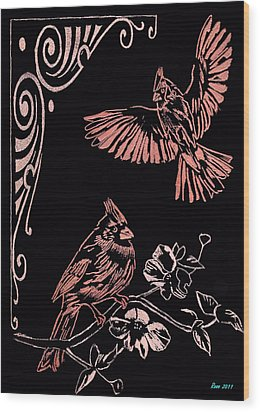 Two Red Cardies Wood Print by Jim Ross