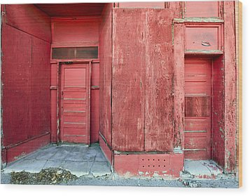 Two Red Doors Wood Print by James Steele