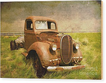 Two Ton Truck Wood Print