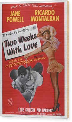 Two Weeks With Love, Insert Ricardo Wood Print by Everett
