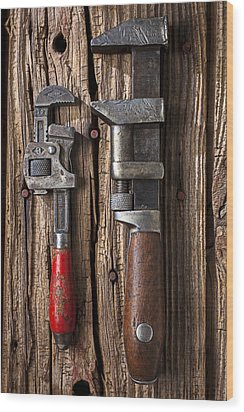 Two Wrenches Wood Print by Garry Gay