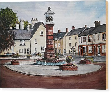 Twyn Square Usk Wood Print by Andrew Read