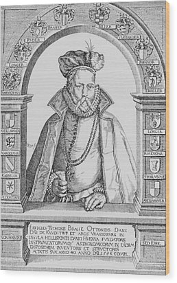 Tycho Brahe Wood Print by Science, Industry & Business Librarynew York Public Library