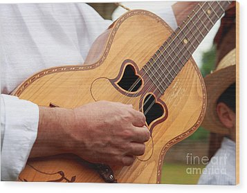 Typical Azores Guitar Wood Print by Gaspar Avila