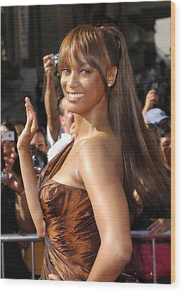 Tyra Banks At Arrivals For 34th Annual Wood Print by Everett