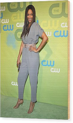 Tyra Banks Wearing A Marley Jumpsuit Wood Print by Everett