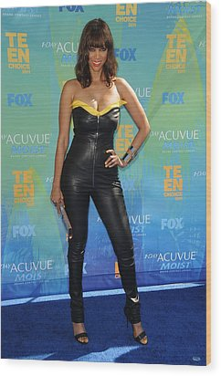 Tyra Banks Wearing A Thierry Mugler Wood Print by Everett