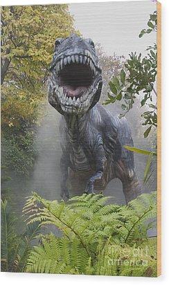 Tyrannosaurus Wood Print by David Davis and Photo Researchers