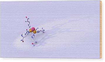 Tyrosinase Molecule Wood Print by Phantatomix