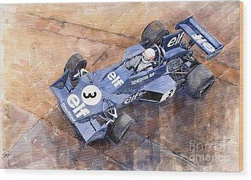 Tyrrell Ford 007 Jody Scheckter 1974 Swedish Gp Wood Print by Yuriy  Shevchuk