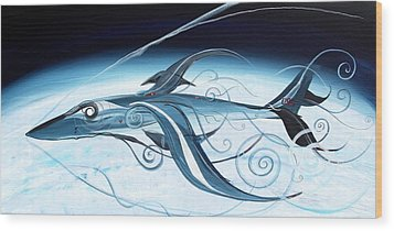 U2 Spyfish - Spy Plane As Abstract Fish - Wood Print by J Vincent Scarpace
