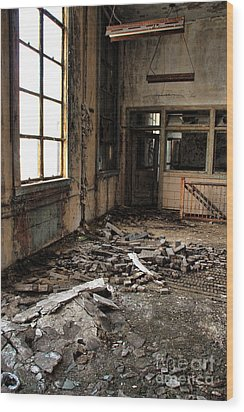 Uban Decay Wood Print by Joanne Coyle